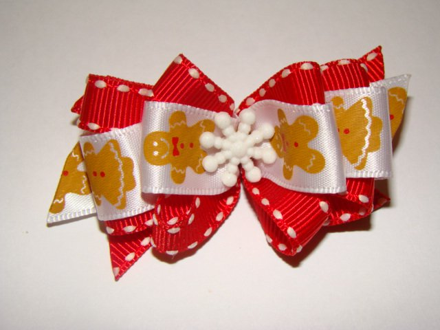 Christmas Dog Bow Gingerbread Man